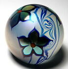 Early Correia Iridescent Surface Decorated Dogwoods Paperweight