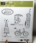 Stampin Up Red Rubber Stamp Set Lifes Adventure