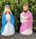 Vintage Empire Nativity Blow Mold Christmas Mary Joseph Lighted Yard Decor Set
