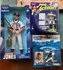 "LOT Chipper Jones Starting Lineups '96 '97 '98 ProAction, 14"" Poseable, 3-1/2"""