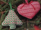 Chicken Scratch Heart Christmas Tree Ornaments CHICKEN SCRATCH PATTERN