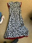 WRAP LONDON Ladies navy, red and white cotton and silk lined dress size 8 usa
