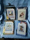 4 Cross Stitch Greetings kits. Design works Crafts.  Read description
