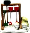 Lemax Christmas Village Snow Shovels Rack Buckets Bags of Salt Accessory