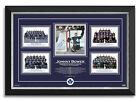 Johnny Bower Signed Toronto Maple Leafs 4 Stanley Cups Archival Etched Glass™