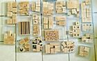 Retired Wood and Clear Mount Stampin Up rubber stamp sets in great condition