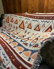 Native Tribal Navajo Blanket Cotton Rug Sofa Throw Bedspread Picnic Tapestry