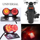 Motorcycle 12V LED Twin Round Tail Turn Signals Rear Brake License Plate Light