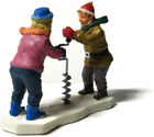 Lemax Christmas Village Couple Drilling Hole in Ice for Ice Fishing