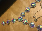 Christian Siriano Iridesent Crystal Adjustable Slider Statement Party Y Necklace