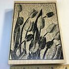 LARGE TULIPS FLOWERS BACKGROUND BY OUTLINES Rubber Stamp