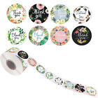 500Pcs Roll Thank you Stickers Wedding Flower Baking Handmade Adhesive Labels