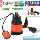 1 2 HP 1980GPH Heavy Duty Submersible Water Pump Cleaning Dirty Sump Pump 400W