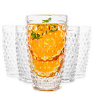 Hobnail Old Fashioned Iced Beverage Glass set drinking glasses Set of 6 13 oz