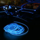 65FT LED Car Interior Decor Atmosphere Wire Strip Blue Light Lamp Accessories