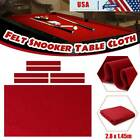 Red Pool Table Cloth Felt Cover W 6 Strips For 9FT Snooker Pool Billiards Table