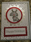 Handmade Christmas Greeting Card Reindeer Puppy Dog Stampin Up Products