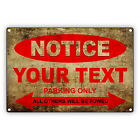 Customized Vintage Look Personalized Car Motorcycle Parking Aluminum Metal Sign
