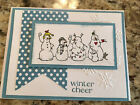 Handmade Christmas Greeting Card Snowman Winter Cheer Stampin Up Products