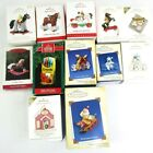 12 Hallmark Keepsake Christmas Ornaments Misc Series Cool Decades Pony Santa