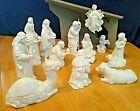 AVON White Porcelain Nativity 13 piece set Collectibles Gently Used in Boxes
