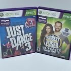 Just Dance 3 and The Biggest Loser 3 Kinect Microsoft Xbox 360 Video Game Lot