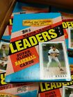 1986 Topps Major League Leaders Super Glossy Baseball Cards Unopened Box 36 Pack
