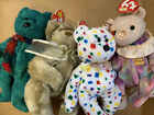 Ty Beanie Baby Lot of 4 Bears WITH ORIGINAL TAGS FREE SHIPPING Beverly Wallace