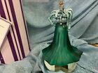 Fenton Legendary Fashions Gibson Girl Limited Edition 2001 Green Glass Signed