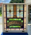 1930s Large Architectural Stained Glass Window From A Church