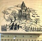 Haunted House Halloween Children in Costumes by Stampendous Rubber Stamp