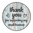 30 15 THANK YOU HEARTS WOOD SHIPPING LABELS ENVELOPE SEALS ROUND STICKERS