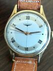 14K solid gold Longines sector dial vintage Wristwatch.