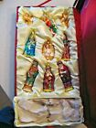 AmeriChristmas Set of 9 Nativity Glass Christmas Ornaments including Wire Gates