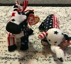 Lefty and Righty 2000 Beanie Babies-Donkey and Elephant-MWMT-EXCELLENT CONDITION