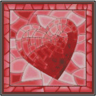 Red Heart Stained Glass Counted Cross Stitch COMPLETE KIT 33 109