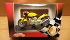Majorette Die-Cast 1/18 Scale Yellow Voxan Roadster 1000 V2 Motorcycle replica