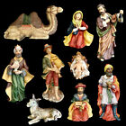 CHRISTMAS NATIVITY LARGE PORCELAIN FIGURES GRANDEUR NOEL 9 FIGURE SET