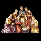 CHRISTMAS NATIVITY DISPLAY GOLD LEAF LIKE ACCENTS  FAUX JEWEL EMBELLISHMENTS