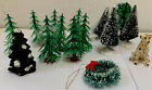 Lemax  Lot Trees Figures Wreath Christmas Village Assorted