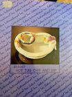 Lotus Hot Tub and Swimming Pool Novelty Chip and Dip Serving Set 1995 NRFB