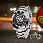 43mm PAGANI DESIGN Black dial Sapphire glass Exhibition Automatic Mens Watch 01
