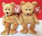 Bargain! Set Of 2 CASHEW TY Beanie Babies.Different Swing Tags Same Issue Date!