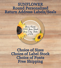 Personalized Round Printed Return Address Labels Seals Sunflower 3
