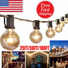 25 50 100FT Waterproof G40 Globe Bulbs Patio Hanging String Lights Outdoor Light