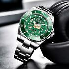 43mm PAGANI DESIGN Green Dial Sapphire glass Exhibition Top Automatic Mens Watch
