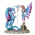 Pacific Giftware Fantasy Fairy Lecturing Bad Dragon Statue by Artist Amy Brown