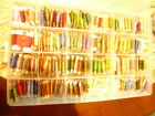 Lot of 143 Embroidery thread cards  Multi color and includes carrying case