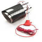 35 61mm Inlet Carbon Fiber Style Car Exhaust Muffler Pipe Tip w RED LED Light