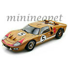 COLLECTIBLES 403 1966 FORD GT40 GT 40 MARK MK II 1 18 DIECAST CAR GOLD 5